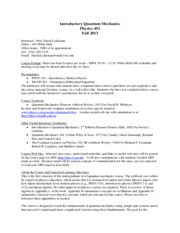 Syllabus Phys 451 Fall 2013