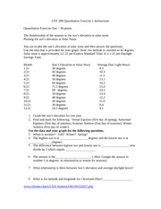 UST 289 Quantitative Exercise 1 Instructions and Answers