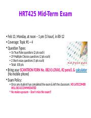HRT425 Mid-term Exam - Study guide.ppt
