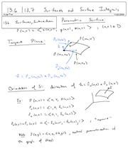 Sections 13.6 13.7 Surfaces and Surface Integrals