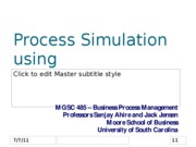 Part 4.1 Intro to Process Simulation using processmodelTM