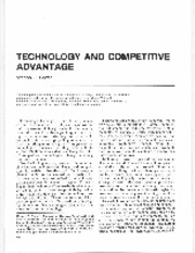 technology and competitive advantage