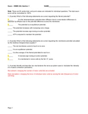 Exam and answers EBME 202 Section 1 020515