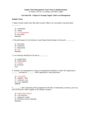 SCM Ch. 8 Test Review with Answers