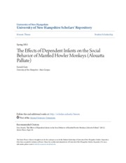 The Effects of Dependent Infants on the Social Behavior of Mantle