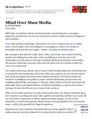 mind over mass media h anaiytical wri the writer transitions to  2 pages mind>mass media