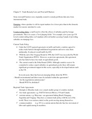 Class Notes on Trade-Remedy Laws and Barriers