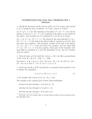 MATH 226 Fall 2014 Problem Set 1 Solutions