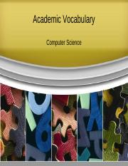 Academic Vocabulary_Computer Science