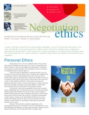 Negotiation 1-pager