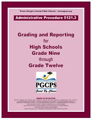 Administrative Procedure 5121.3 High School - 8.15.16 (rev_d).pdf