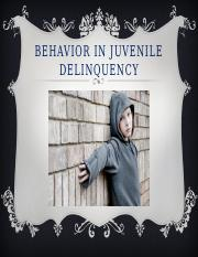 Behavior in Juvenile Delinquency powerpoint
