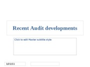 Recent Audit Developments SP 10