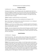 Lecture on Geography to History Relations Sheet