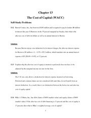 Chapter 13 Cost of Capital Text Probs and Solns