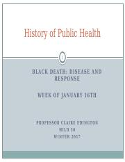 HILD 30 Black Death Lecture January 23rd.pptx