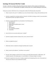 Sociology 101 Test 1 Study Guide.docx