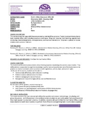 syllabus ALH110 Medical Office Administration 2015 fall