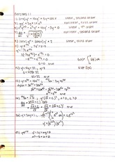 notes differential equations