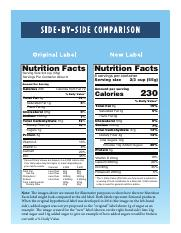 Nutrition Fact Label Side by Side Comparison.pdf