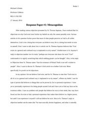 Paper on Metacognition