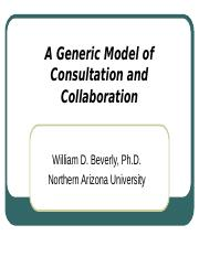 A Generic Model of Consultation and Collaboration.ppt