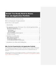 Details You Really Need to Know_Job Application Portfolio