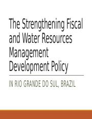 The Strengthening Fiscal and Water Resources Management Development.pptx