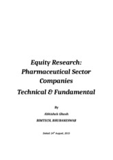 Equity Research Pharmaceutical Sector Companies by Abhishek Ghosh