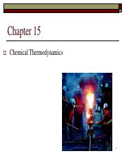 CHAPTER 15 Chemical Thermodynamics