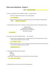 Video Lesson Worksheet_ch3