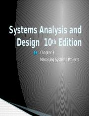 Chapter 3 Systems Analysis And Design 10th Edition Chapter 3 Managing Systems Projects Overview Of Project Management What Shapes A Project Successful Course Hero