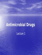 Antimicrobial_Drugs. lecture 1(1)