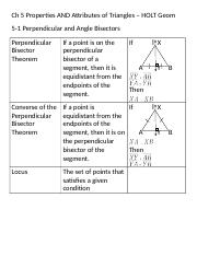 Ch 5 Properties AND Attributes of Triangles.doc