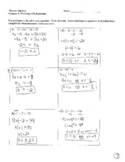 Review Packet Solutions Ch 4-5
