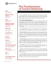 the transformation of content marketing