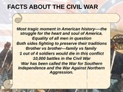 Civil War from 1861 - 63