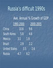 PPT slides -Russia pop & econ