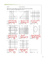 Worksheet-Domain and Range-Solutions