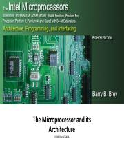 Lecture 02 - The Microprocessor and its Architecture