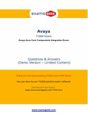 Real 7120x Avaya Exam Practice Questions.pdf