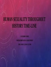 Leandrea Poke's Human Sexuality Throughout History Time-line