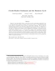Credit-Market Sentiment and the Business Cycle