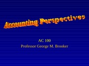 Accounting Perspective