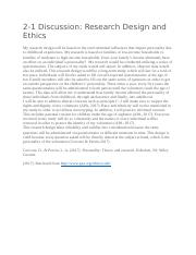 Discussion research design and ethics.docx