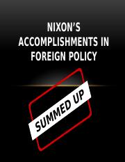 Nixon's accomplishments in Foreign Policy.pptx