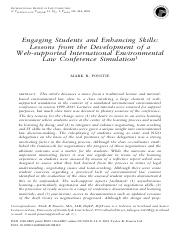 Engaging Students and Enhancing Skills