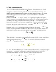 LCAO Approximation notes