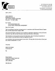 CiCi's Franchise Disclosure Document 2012