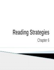 CH 6 - Reading Strategies
